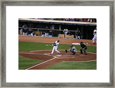 Up At Bat Framed Print by Jaymes Grossman