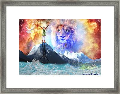 Up Close And Personal  Framed Print by Dolores Develde