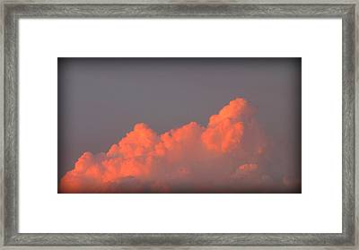 Up In Red Clouds Framed Print by Henry Adams
