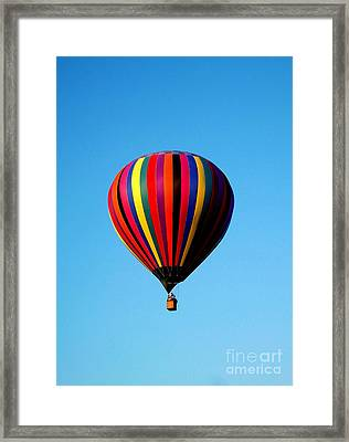 Up In The Air Framed Print by R McLellan