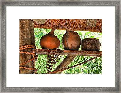 Up On A Shelf Framed Print by Jan Amiss Photography