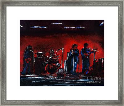 Up On The Stage Framed Print by Alys Caviness-Gober