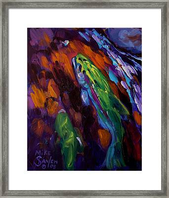 Up Stream Framed Print by Savlen Art