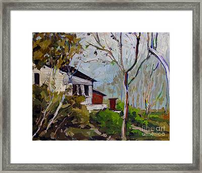 Up The Hill Above The Eel Framed Print by Charlie Spear