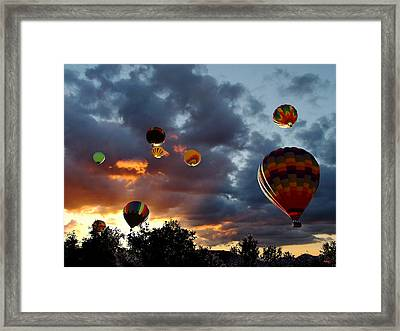 Up Up And Away - Hot Air Balloons Framed Print by Glenn McCarthy