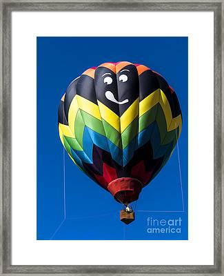Up Up And Away In My Beautiful Balloon Framed Print by Edward Fielding