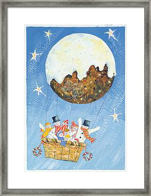 Up, Up And Away  Framed Print by David Cooke