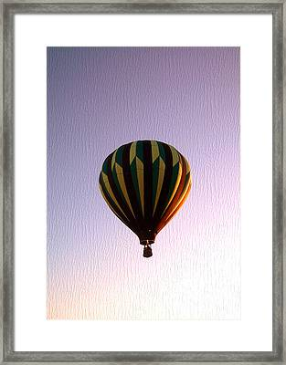Up Where The Air Is Clear Framed Print by R McLellan