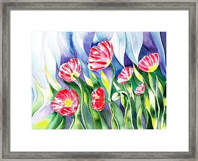 Upcoming Wind Poppy Field Framed Print by Irina Sztukowski