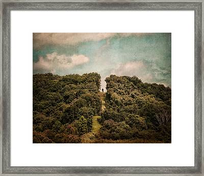 Uphill Climb Framed Print by Jai Johnson