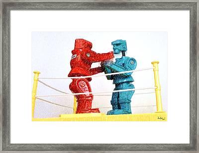 Upper Cut Framed Print by Doctor Sid