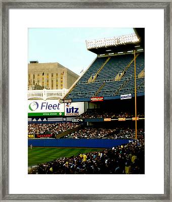 Upper Deck  The Yankee Stadium Framed Print by Iconic Images Art Gallery David Pucciarelli