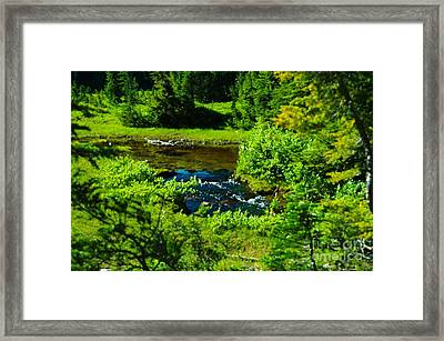 Upper Dewey Creek Framed Print by Jeff  Swan