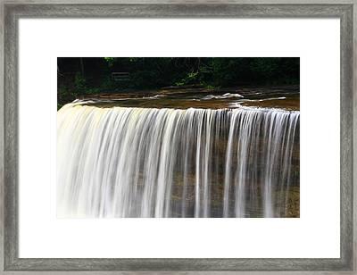 Upper Falls At Tahquamenon Falls State Park Framed Print by Dan Sproul