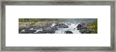 Upper Great Falls Panorama Framed Print by Benjamin Reed