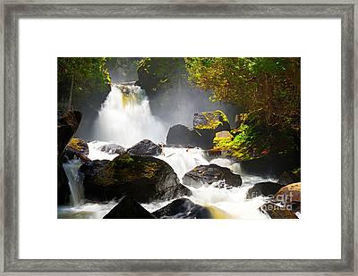 Upper Johnson Falls Framed Print by Larry Ricker
