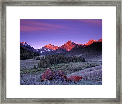 Upper Pahsimeroi Framed Print by Leland D Howard