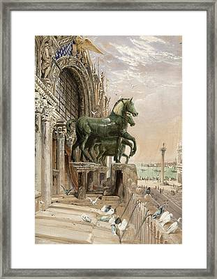 Upper Portion Of The Facade Of St Framed Print by William Bell Scott