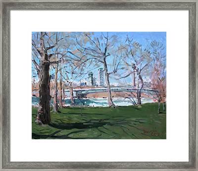Upper Rapids Of Niagara Falls Ny Framed Print by Ylli Haruni