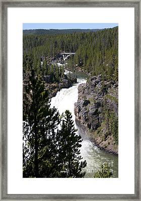 Majestic Waters With Deceptive Calm  Framed Print by Brenda Kean