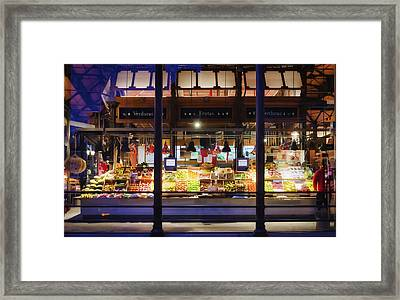 Upscale Mercado Framed Print by Joan Carroll