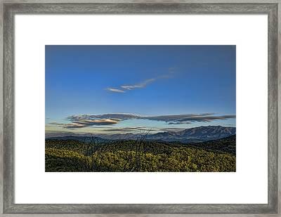 Upslope Flow Framed Print by Steven Richardson
