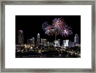 Uptown Fireworks 2014 Framed Print by Chris Austin