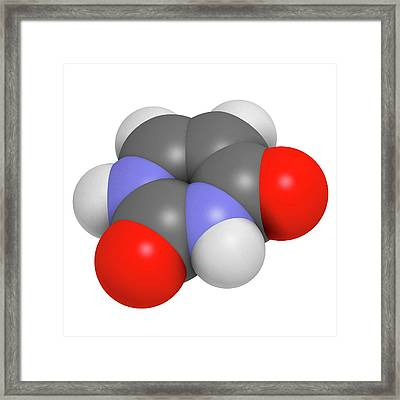 Uracil Nucleobase Molecule Framed Print by Molekuul