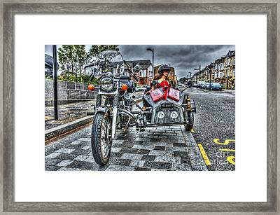 Ural Wolf 750 And Sidecar Framed Print by Steve Purnell