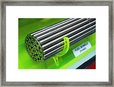 Uranium Fuel Rods Framed Print by Mark Williamson