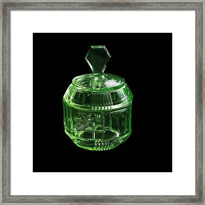 Uranium Glass Framed Print by Science Photo Library