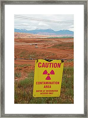 Uranium Mill Clean Up Project Framed Print by Jim West