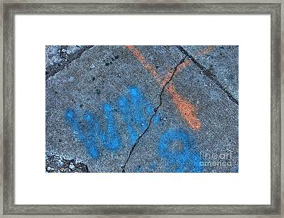 Urban Abstract 3 Framed Print by Jim Wright