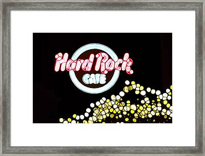 Urban Abstract Hard Rock Cafe Framed Print by Dan Sproul