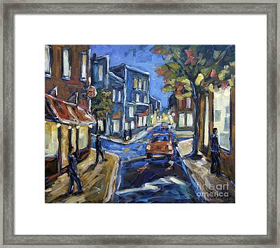 Urban Avenue By Prankearts Framed Print by Richard T Pranke