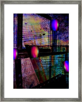 Urban Complexities Framed Print by Shirley Sirois