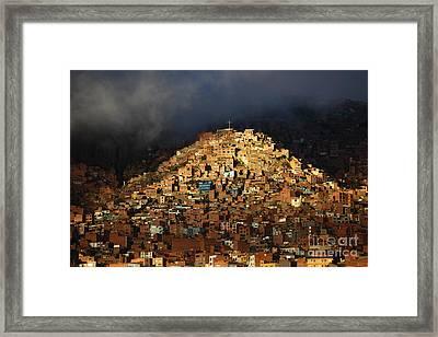 Urban Cross 2 Framed Print by James Brunker