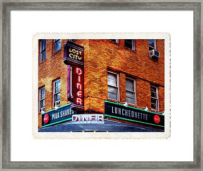 Urban Diner Luncheonette Lost City Baltimore Maryland Framed Print by Donna Haggerty