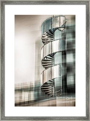 Urban Drill - Cyan Framed Print by Hannes Cmarits