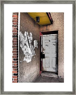 Urban Doorway  Framed Print by Donna Haggerty