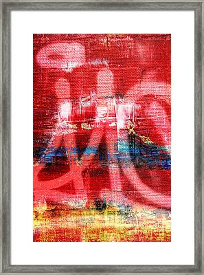 Urban Graffiti Abstract Color Framed Print by Edward Fielding