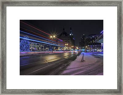 Urban Holiday  Framed Print by CJ Schmit