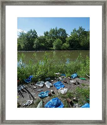 Urban Lake Framed Print by Robert Brook