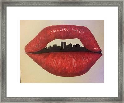 Urban Lips Framed Print by Brad Leach