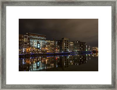 Urban River Reflected Framed Print by CJ Schmit