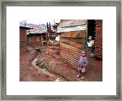Urban Slum Framed Print by Laura Conklin M.d., Medical Officer; Respiratory Diseases Branch/cdc