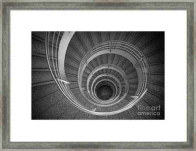 urban spiral - gray II Framed Print by Hannes Cmarits