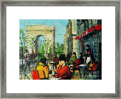 Urban Story - Champs Elysees Framed Print by Mona Edulesco