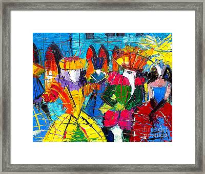 Urban Story - The Carnival 2 Framed Print by Mona Edulesco