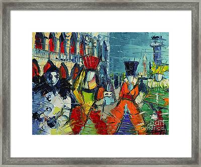 Urban Story - The Carnival Framed Print by Mona Edulesco